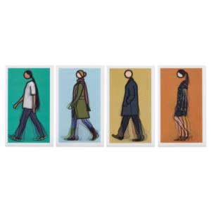 光柵明信片 Lenticular postcard - Walking (set of 4)