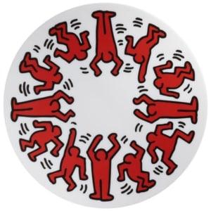 """凱斯哈林""""Red on White""""瓷盤 Keith Haring """"Red on White"""" plate"""