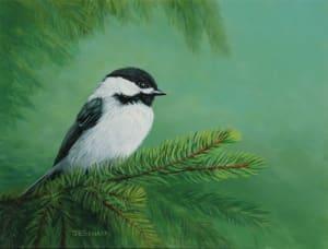 Pine Perch (Chickadee)