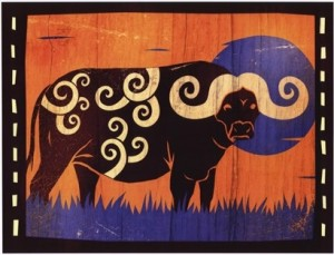 Woodblock Buffalo