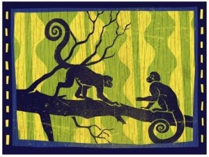 Woodblock Monkey