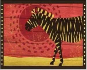 Woodblock Zebra
