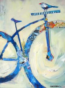 Blue Mountain Bike and Bird