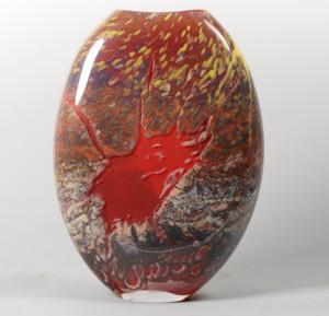 Fission Vase Med-Red