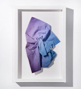 Purple blue crumpled