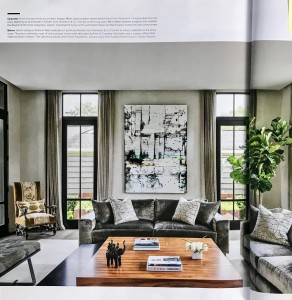 "Gunnerson, Tate, ""Bright Idea"", Luxe Interiors + Design, July/August 2018"