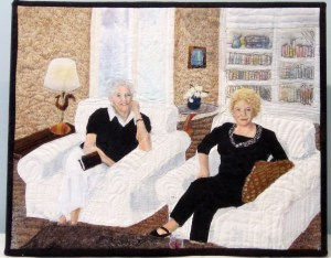 Peggy and Helen at Book Club