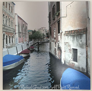 Blue Boats, Venice , Italy, Unframed