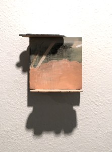Painting with 2 Additional pieces ( cloud shape) on the top and bottom