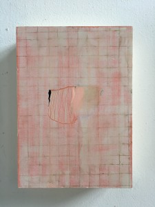 Small painting with pink grid