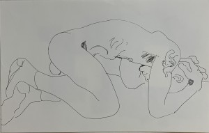 Male nude drawing to web 1