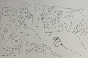 Male nude drawing to web