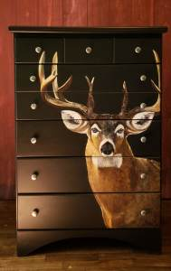 Buck on Black Contemporary Chest of Drawers