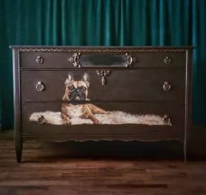 Bulldog Buffet Vintage Tell City Mahogany Dresser