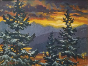 """""""Snow Day - dawn"""" view from the Studio"""