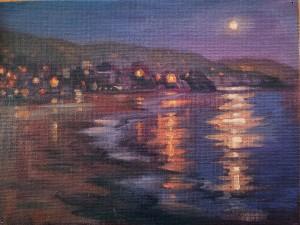 """Nocturne - Laguna Beach"" study"