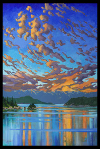 """GICLEE  """"Fire & Water - Howe Sound sunset"""""""