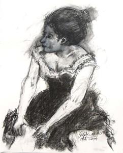 Girl after Degas