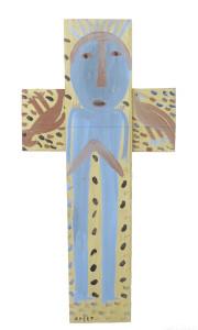 Cross with Figure & Birds