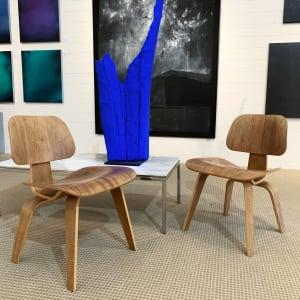 Eames DCW Chairs, Pair - Original Herman Miller