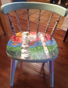 Birch tree single chair