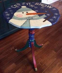 Christmas  store snowman table
