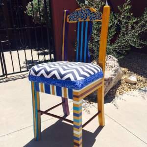 Striped Bright Artist Desk chair