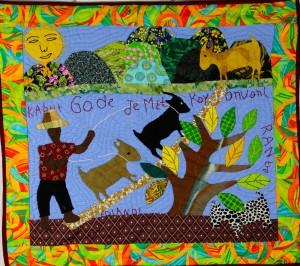 Goats Look To Their Owner Before Wandering (Haitian Proverb) - Kabrit Gade Je Met Kay Avan Irantre