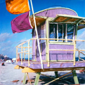 Lavender Lifeguard Stand