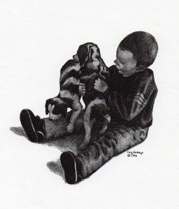 Ben with Puppies