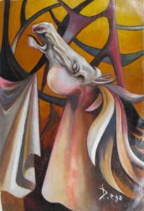 """Valiant Stallion"" by Antonio Diego Voci #C2"