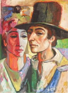 """""""The Spanish Pair"""" by Antonio Diego Voci #C8"""