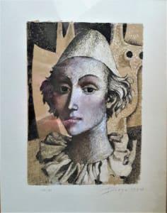 """The Clown"" Framed by Antonio Diego Voci"
