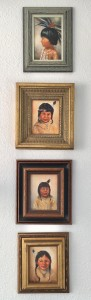 Native American Children (4 minis paintings)