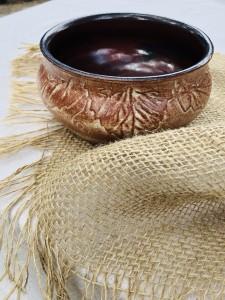 Leaf Carved Bowl