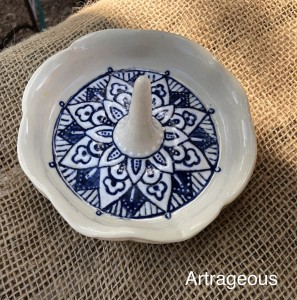 Blue and White Ring Bowl