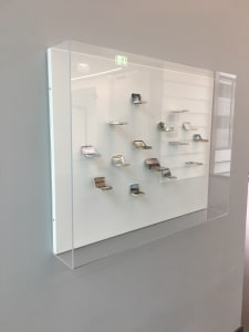 Medicine Tins in Acrylic Display Cases