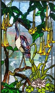 Heron with Angel Trumpet