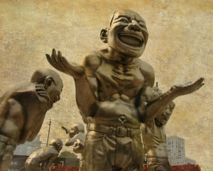 A-Mazing-Laughter Public Sculptures by Yue Minjun, Beijing, 2008