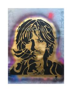 George Harrison retired stencil