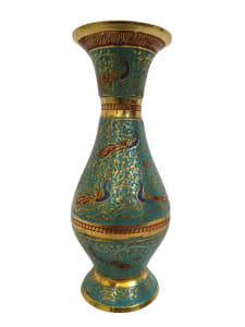Classic curves and soulful art pure brass vase