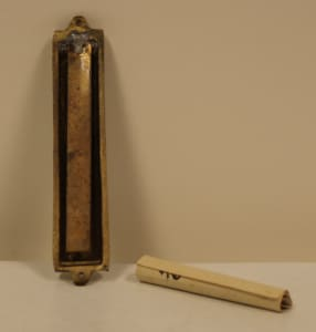Mezuzah with Non-Kosher Scroll