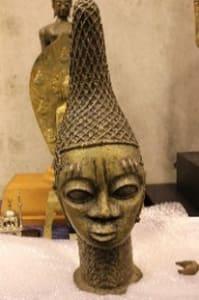 Bronze Head of Queen Idia, Benin (Modern Reproduction)