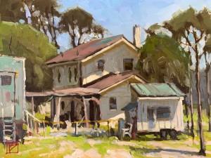 Tiny House and a FEMA Trailer