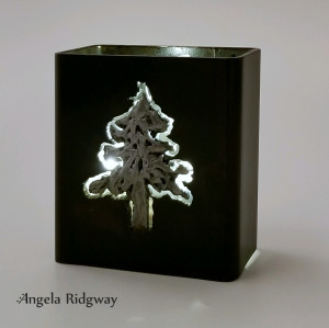 "fir tree light box ~ 4.5""  (FT17)"