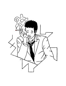 """""""Smoking Man"""" Limited Edition Set of 20 #6 of 20"""