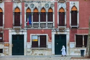 Nuns, Campo San Polo, Venice