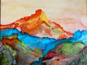 Fire Mountain Abstract Mountains