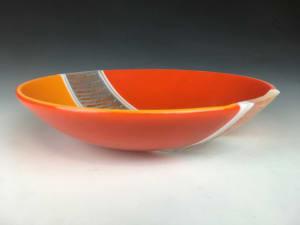 橙色丑角碗
