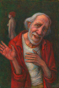 Old Man Dancing with Nude 2